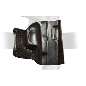 DeSantis E-GAT Belt Slide Holster For GLOCK Full Size/Compact 9/40 Right Hand Leather Black 115BAB2Z0