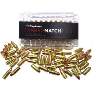 CapArms Target Match .45 ACP Ammunition 50 Rounds RN 230 Grains M045N230B