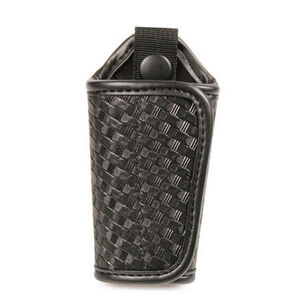 Bianchi 31C Silent Key Holder Brass Snap Leather Basket Weave Black