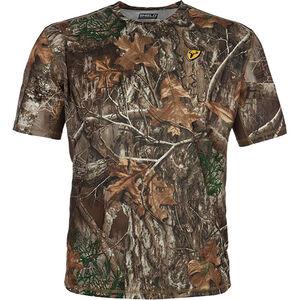 Blocker Outdoors Shield Series Angatec Performance Short Sleeve Shirt Moisture Wicking Polyester Realtree Edge Camo