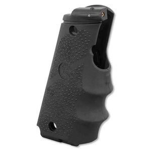 Hogue Laser Enhanced Grip With Finger Grooves 1911 Full Size Rubber Black 45080