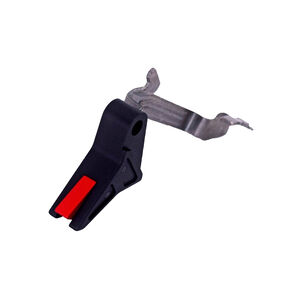 True Precision AXIOM Trigger For Glock 43/43X/48 Aluminum Black With Red Safety