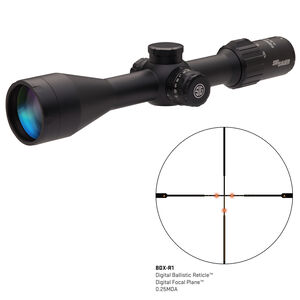 SIG Sauer SIERRA3BDX 4.5-14X50mm Riflescope Illuminated BDX-R1 Digital Reticle 30mm Tube 0.25 MOA Adjustment Side Focus Parallax Black