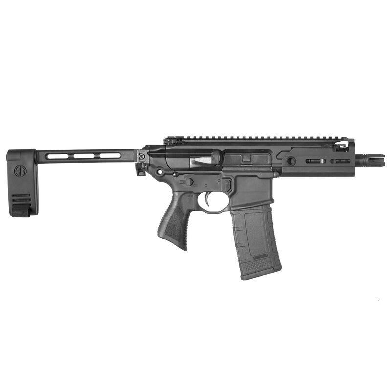 "SIG Sauer MCX Rattler .300 AAC Blackout Semi Auto Pistol 5.5"" Barrel 30 Rounds SIG Enhanced Trigger Free Float M-LOK Hand Guard Pistol Stabilizing Brace Stealth Black Finish"