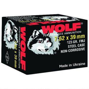 Wolf Performance 7.62x39 Ammunition 123 Grain Bi-Metal FMJ Steel Case 2362 fps