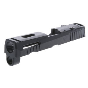 Rival Arms Optic Ready Slide for SIG Sauer P320 Carry Frames Docter Optic Cut CNC Machined 416 Stainless Steel Billet QPQ Black Finish