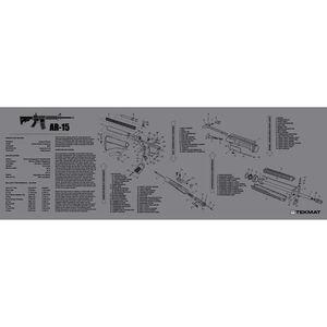 "TekMat ""AR-15"" Armorers Bench Mat 12""x36""x1/8"" Neoprene Grey 36-AR15GY"