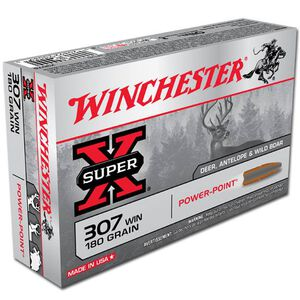 Winchester Super-X .307 Win Ammunition 20 Rounds 180 Grain Power Point SP 2510fps