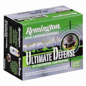 Remington Ultimate Defense .38 Special +P Ammunition, 20 Rounds, BJHP, 125 Grains
