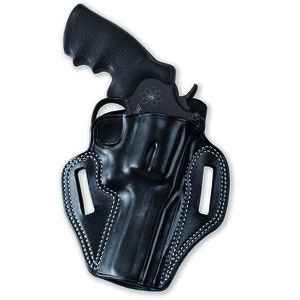 """Galco Combat Master Ruger Service Six 4""""/ S&W K Frame and Similar Right Hand Leather Black"""