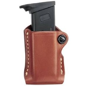 Gould & Goodrich Gold Line Beretta 84, Colt (all), HK P2000, P30, Kimber (all except Polymer), SIG Sauer (all), Ruger (all) S&W (all except Sigma) Single Magazine Case Paddle Back Leather Tan 830-3