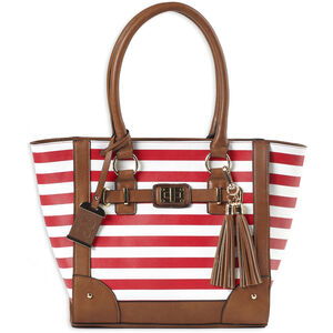 Bulldog Cases Cherry Stripe Tote Bag with Holster and Conceal Carry Pocket
