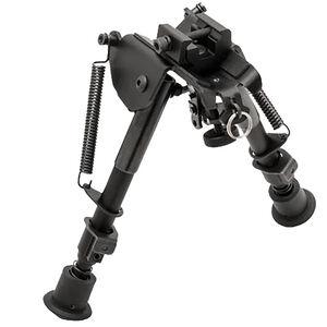 "TRUGLO Tac-Pod Adjustable Pivot Head Bipod 6"" to 9"" with Adapter Aluminum Black TG8902S"