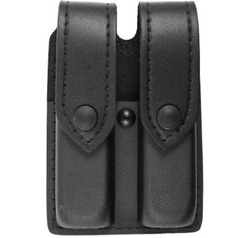 Safariland Model 77 Double Handgun Magazine Pouch Double Stack Magazines STX Tactical Finish Snap Closure Black 77-283-13PBL