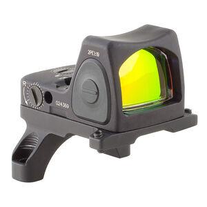 Trijicon RMR Type 2 Adjustable LED Reflex Sight 6.5 MOA Red Dot Reticle 1 MOA Adjustment CR2032 Battery ACOG Mount Aluminum Black