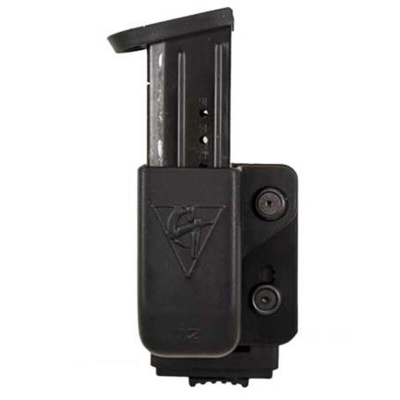 Comp-Tac Single Magazine Pouch PLM Left Side Carry Fits 1911 Kydex Black