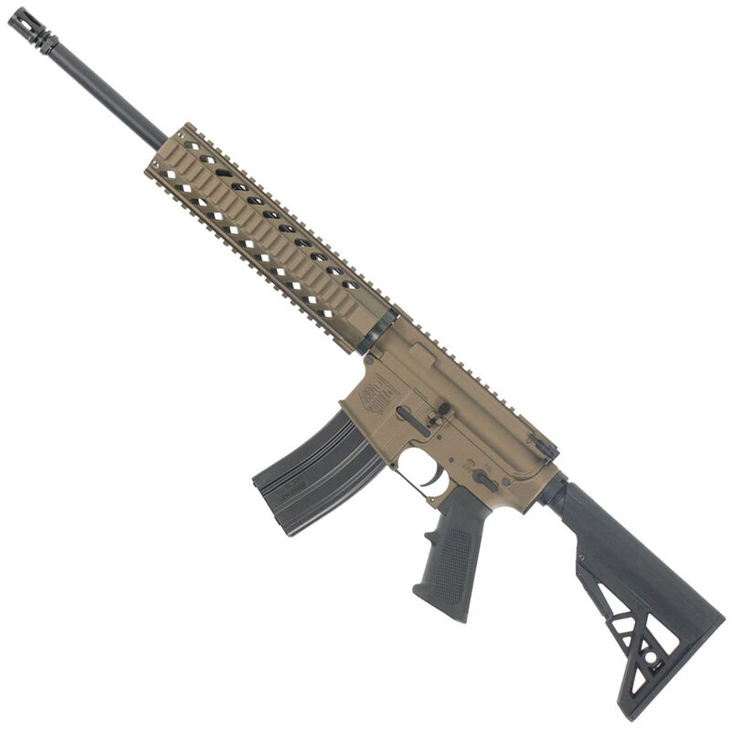 "Diamondback Firearms DB15 M4 Carbine AR-15 Semi Automatic Rifle 5.56 NATO 16"" Barrel 30 Rounds Free Float Quad Rail Handguard Collapsible Stock Burnt Bronze"
