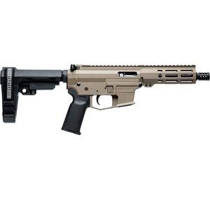 "Angstadt Arms UDP-9 9mm Luger AR Style Semi Auto Pistol 6"" Barrel 15 Rounds Uses GLOCK Style Magazines Free Float M-LOK Hand Guard SBA3 Pistol Brace FDE"