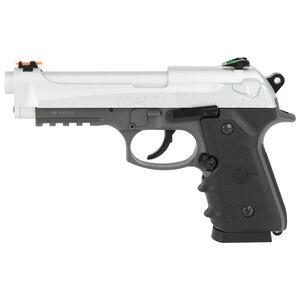 Crosman CM9B Mako CO2 Powered Semi Auto BB Air Pistol 20 Shot Magazine Fiber Optic Sights Silver Metal Slide Matte Black Frame