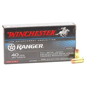 Winchester Ranger .40 S&W 180 Grain FMJ Encapsulated 50 Rounds ZQ4456