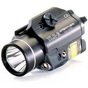 Streamlight TLR-2 Tactical Rail Mount Flashlight 300 Peak Lumens and Red Laser  Black