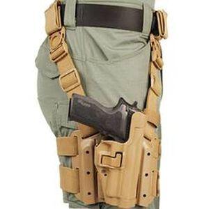 BLACKHAWK! Level 2 Tactical SERPA Holster Drop Leg Platform Y-Harness Colt 1911 & Clones Right Hand Coyote 430503CT-R