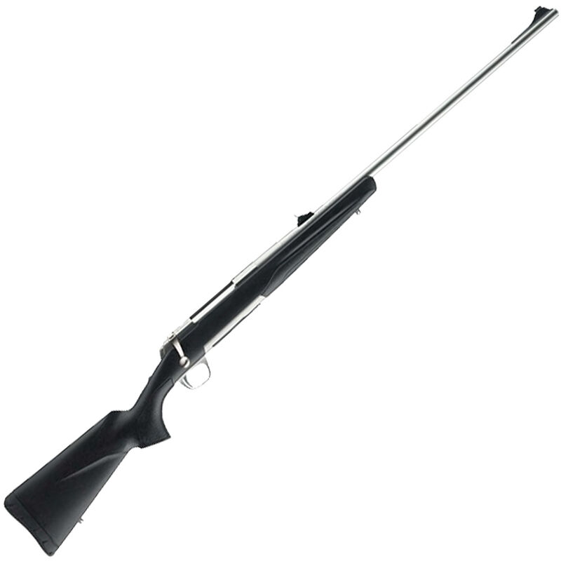 """Browning X-Bolt Stainless Stalker .375 H&H Mag Bolt Action Rifle 24"""" Barrel 3 Rounds Open Sights Matte Gray/Black Composite Stock Matte Stainless Finish"""