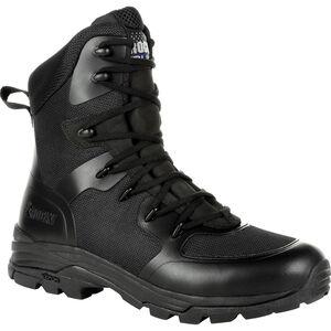 "Rocky International Code Blue 8"" Public Service Boot Leather Size 8 Black"