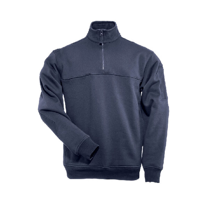 5.11 Tactical 1/4 Zip Job Water Repellant Storm Cotton Shirt 3 Extra Large Fire Navy 72363