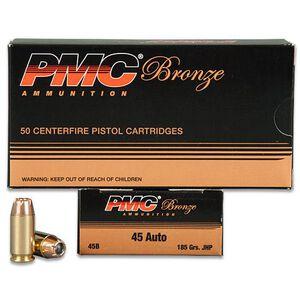 PMC .45 ACP Ammunition 50 Rounds JHP 185 Grains 45B