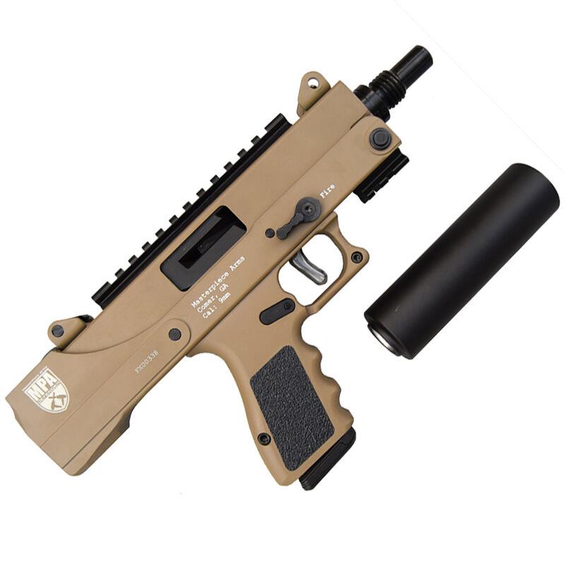 "Masterpiece Arms Defender MPA30DMG 9mm Luger Semi Auto Pistol 4.5"" Threaded Barrel 17 Rounds GLOCK Magazine Compatible Side Cocker/Scope Mount Cerakote FDE Finish"