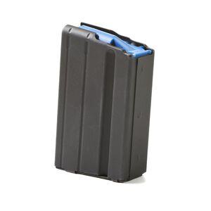 ASC AR-15 Magazine 6.5 Grendel 5 Rounds Blue Polymer Follower Stainless Steel Body Matte Black Finish