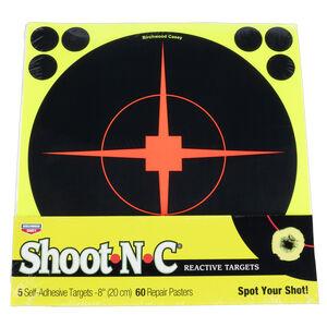 """Birchwood Casey Shoot-N-C Paper 8"""" Bullseye Targets Black 5 Pack"""