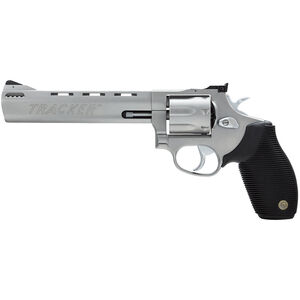 """Taurus Tracker 627 Double Action Revolver .357 Magnum 6.5"""" Ported Barrel 7 Rounds Fixed Front Sight/Adj Rear Sight Ribber Grip Matte Stainless Steel Finish"""