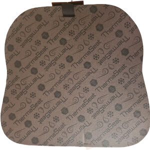 """Northeast Products Original Therm-A-Seat Optipoly/Softek Foam Cushion with Velcro Strap 13""""x14"""" Wide 1-1/2"""" Thick Large Laminated Fabric Brown 7025"""