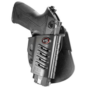 Fobus Evolution Holster Beretta 92,PX4 Storm/FN FNS/S&W Shield Right Hand Roto-Paddle Attachment Polymer Black