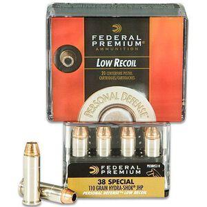 Federal Premium .38 SPL 110gr Hydra-Shok JHP 20 Rounds