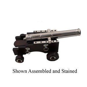 """Traditions Mini Old Ironsides Black Powder Cannon Kit .50 Cal 9"""" Barrel Wooden Carriage Steel"""