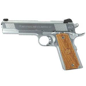 "American Classic II 1911 Government Semi Automatic Pistol .45 ACP 5"" Barrel 8 Round Capacity Wood Grips Hard Chrome Finish AC45G2C"