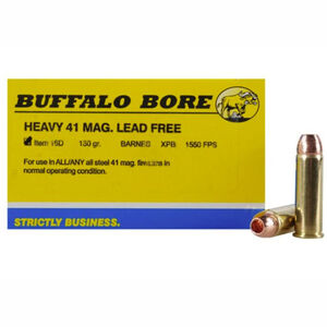 Buffalo Bore Heavy .41 Remington Magnum Ammunition 20 Rounds Barnes XPB 180 Grain 16D/20