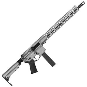 "CMMG Resolute 300 Mk9 Series 9mm Luger AR15 Style Semi Auto Rifle 16"" Barrel 32 Rounds CMMG RML15 M-LOK Hand Guard Cerakote Titanium"