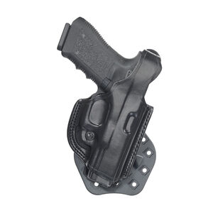 Aker Leather Model 268 FlatSider XR17 For P229R Paddle Holster Right Hand Leather Black