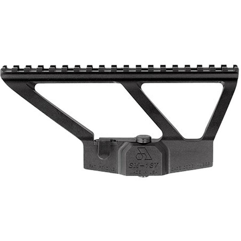 Arsenal AK Variant/Vepr/RPK Scope Mount Iron Sight Relief Cut Low Profile Design Aluminum Black