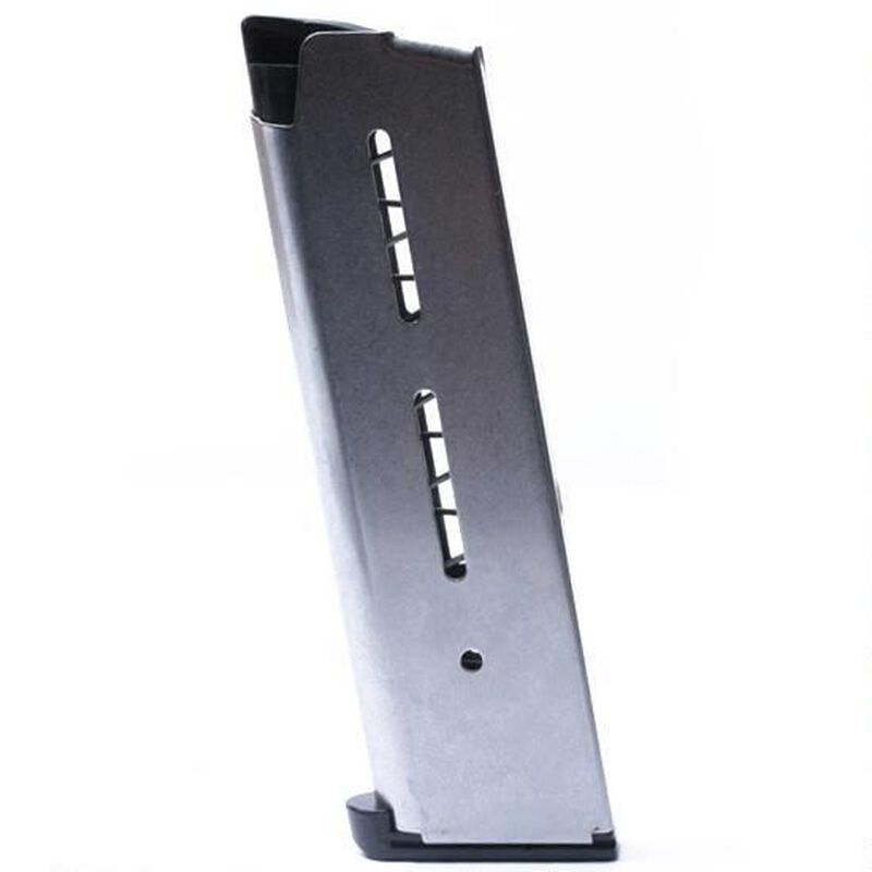 Wilson Combat 1911 Government/Commander Full Size 8 Rounds Magazine .45 ACP Plastic Base Pad Stainless Steel Natural Finish