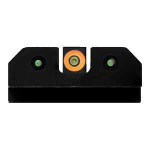 XS Sights RAM Night Sights Fits S&W M&P Full Size/Compact and M2.0 Traditional 3 Dot Tritium Night Sight Configuration High Contrast Orange Front Steel Construction Black