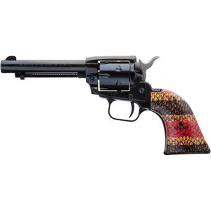 """Heritage Rough Rider Coral Snake .22 LR Single Action Rimfire Revolver 4.75"""" Barrel 6 Rounds TALO Exclusive Coral Snake Skin Synthetic Grips Blued"""