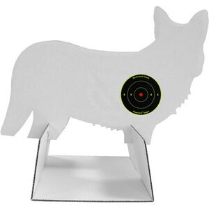 "Birchwood Casey Target Freedom Coyote 12"" x 18"" 24 Bullseye Targets White"