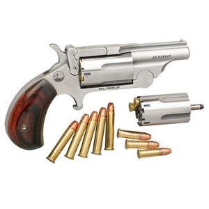 "North American Arms Ranger Break Top II .22 WRM/.22LR Single Action Revolver 1-5/8"" Barrel 5 Rounds Rosewood Birdshead Grip Stainless Bead Blast Finish"