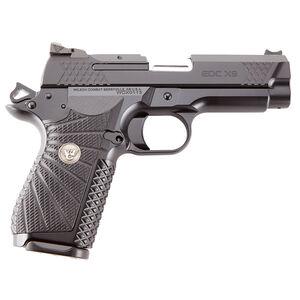 "Wilson Combat EDC X9 9mm Luger Compact Semi-Auto Pistol 4"" Barrel 15 Rounds F/O Front Sight G10 Grips Aluminum X-Frame Black Finish"