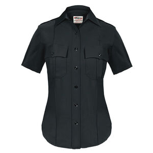 Elbeco TEXTROP2 Women's Short Sleeve Shirt Size 32 100% Polyester Tropical Weave Midnight Navy